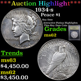 ***Auction Highlight*** 1934-s Peace Dollar $1 Graded Select Unc By USCG (fc)