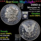 ***Auction Highlight*** 1880-o Morgan Dollar $1 Graded Select Unc DMPL By USCG (fc)