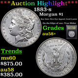 ***Auction Highlight*** 1883-s Morgan Dollar $1 Graded Choice AU/BU Slider+ By USCG (fc)