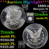 ***Auction Highlight*** 1880-s Morgan Dollar $1 Graded GEM+ UNC PL By USCG (fc)