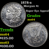 1878-s Morgan Dollar $1 Grades Choice Unc