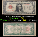 1928 $1 Red Seal United States Note Grades f+