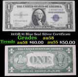 1935B $1 Blue Seal Silver Certificate Grades Choice AU/BU Slider