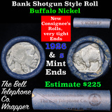 Buffalo Nickel Shotgun Roll in Old Bank Style 'Bell Telephone'  Wrapper 1926 & s Mint Ends