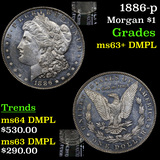 1886-p Morgan Dollar $1 Grades Select Unc+ DMPL