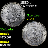 1885-p Morgan Dollar $1 Grades Select Unc