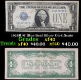 1928B $1 Blue Seal Silver Certificate Grades xf