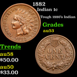 1882 Indian Cent 1c Grades Select AU
