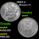 1882-o Morgan Dollar $1 Grades Choice Unc