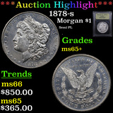 ***Auction Highlight*** 1878-s Morgan Dollar $1 Graded GEM+ Unc By USCG (fc)