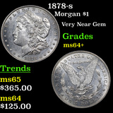 1878-s Morgan Dollar $1 Grades Choice+ Unc