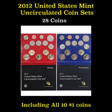 2012 United States P & D Mint Uncirculated Coin Set 28 coins