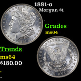 1881-o Morgan Dollar $1 Grades Choice Unc