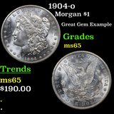 1904-o Morgan Dollar $1 Grades GEM Unc