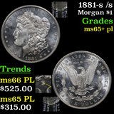 1881-s /s Morgan Dollar $1 Grades GEM+ PL