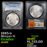 ***Auction Highlight*** PCGS 1885-o Morgan Dollar $1 Graded ms66 By PCGS (fc)