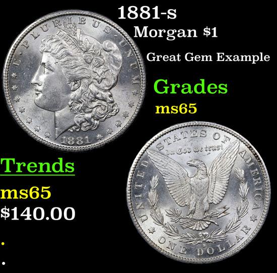 1881-s Morgan Dollar $1 Grades GEM Unc