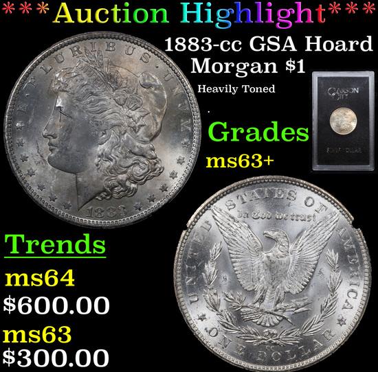 ***Auction Highlight*** 1883-cc GSA Hoard Morgan Dollar $1 Grades Select+ Unc (fc)