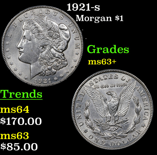 1921-s Morgan Dollar $1 Grades Select+ Unc