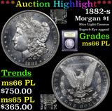 ***Auction Highlight*** 1882-s Morgan Dollar $1 Graded GEM+ UNC PL By USCG (fc)