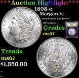 ***Auction Highlight*** 1898-o Morgan Dollar $1 Graded GEM++ Unc By USCG (fc)