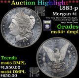 ***Auction Highlight*** 1883-p Morgan Dollar $1 Graded Choice Unc+ DMPL By USCG (fc)