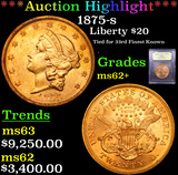 ***Auction Highlight*** 1875-s Gold Liberty Double Eagle $20 Graded Select Unc By USCG (fc)