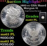 ***Auction Highlight*** 1882-cc GSA Hoard Morgan Dollar $1 Grades Select Unc PL (fc)