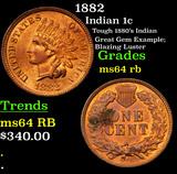 1882 Indian Cent 1c Grades Choice Unc RB
