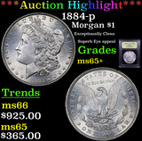 ***Auction Highlight*** 1884-p Morgan Dollar $1 Graded GEM+ Unc By USCG (fc)