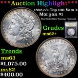 ***Auction Highlight*** 1882-o/s Top 100 Vam 4 Morgan Dollar $1 Graded Select Unc By USCG (fc)