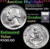 ***Auction Highlight*** 1970-d Mint Error Struck on 10c Dime Stock 4.3 Grams Washington Quarter 25c