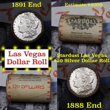 ***Auction Highlight*** Full Morgan/Peace Stardust Hotel silver $1 roll $20, 1891 & 1888 end (fc)