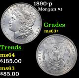 1890-p Morgan Dollar $1 Grades Select+ Unc