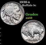 1936-s Buffalo Nickel 5c Grades Select AU
