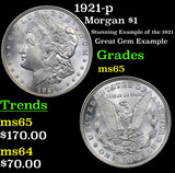 1921-p Morgan Dollar $1 Grades GEM Unc