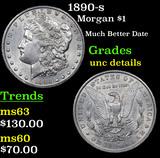 1890-s Morgan Dollar $1 Grades Unc Details