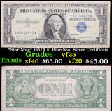 *Star Note* 1957A $1 Blue Seal Silver Certificate Grades vf+