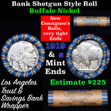 Buffalo Nickel Shotgun Roll in Old Bank Style 'Los Angeles Trust And Savins Bank'  Wrapper 1919 & s