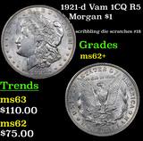 1921-d Vam 1CQ R5 Morgan Dollar $1 Grades Select Unc