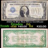 1928A $1 Blue Seal Silver Certificate Grades f+