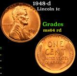 1948-d Lincoln Cent 1c Grades Choice Unc RD
