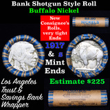 Buffalo Nickel Shotgun Roll in Old Bank Style 'Los Angeles Trust And Savins Bank'  Wrapper 1917 & s