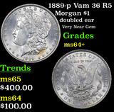1889-p Vam 36 R5 Morgan Dollar $1 Grades Choice+ Unc