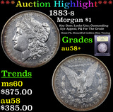 ***Auction Highlight*** 1883-s Morgan Dollar $1 Graded Choice AU/BU Slider+ By USCG (fc)