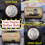 ***Auction Highlight*** Full Morgan/Peace Sands Hotel silver $1 roll $20, 1880 & 1879 ends (fc)