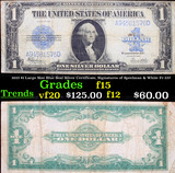 1923 $1 Large Size Blue Seal Silver Certificate, Signatures of Speelman & White Fr-237 Grades f+