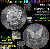 ***Auction Highlight*** 1896-p Morgan Dollar $1 Graded Choice Unc+ DMPL By USCG (fc)