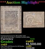 ***Auction Highlight*** Continental Currency November 2nd, 1776 $8 Fr-CC53 Sig. J. Gaither & Deni Hi