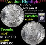 ***Auction Highlight*** 1885-o Morgan Dollar $1 Graded GEM++ Unc By USCG (fc)